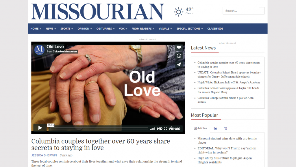 Photo and Video Editor at Columbia Missourian